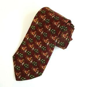 Brooks Brothers Makers Red Equestrian Tie